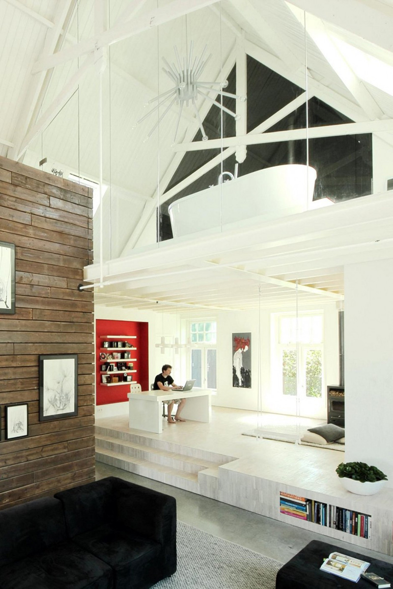 De igreja em loft moderno
