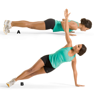 Side Plank Rotations T Push Up Images &...