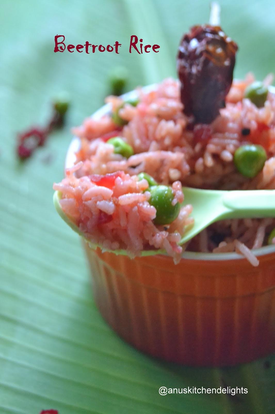 Beeroot Rice