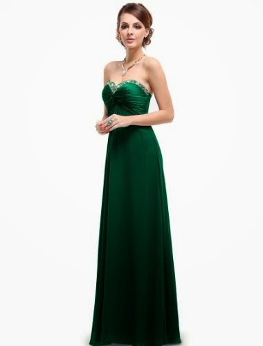 Pretty Sweetheart Neckline Rhinestones Crystal Beads Prom Dress