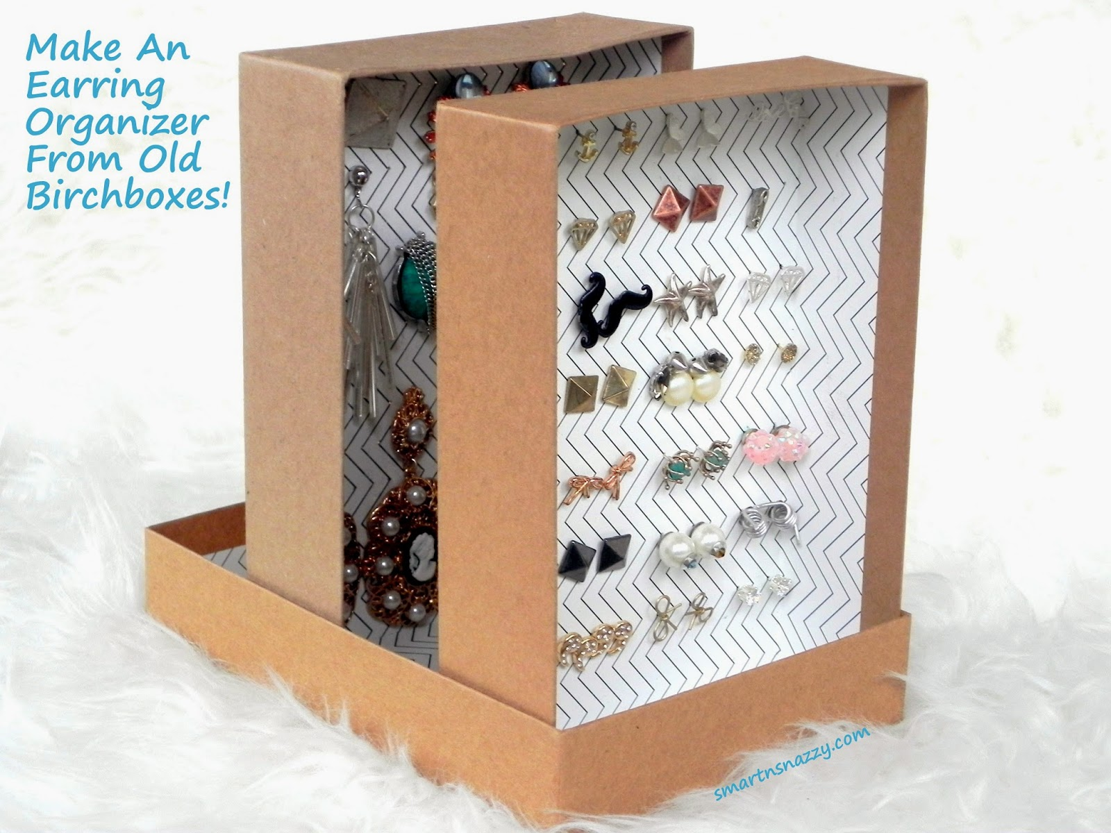 DIY ~ Upcycled Birchboxes Into Earring Organizer