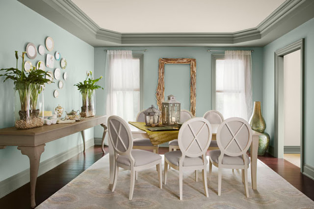 Benjamin Moore Blue Dining Room Colors