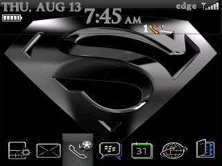 Tema Superman untuk BlackBerry Curve 8300, 8310, 8320, dan 8330