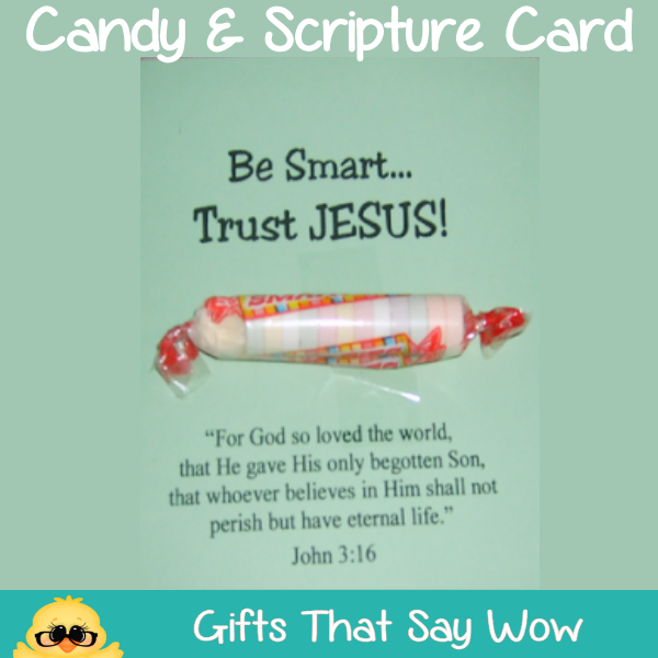 ... WOW - Fun Crafts and Gift Ideas: Candy Handouts with Bible Scripture
