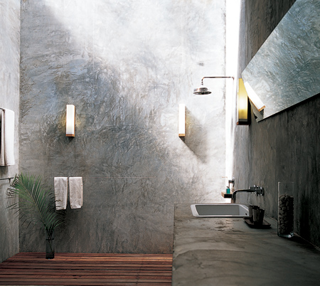 Genial Cool Cement And Concrete Bathroom Features