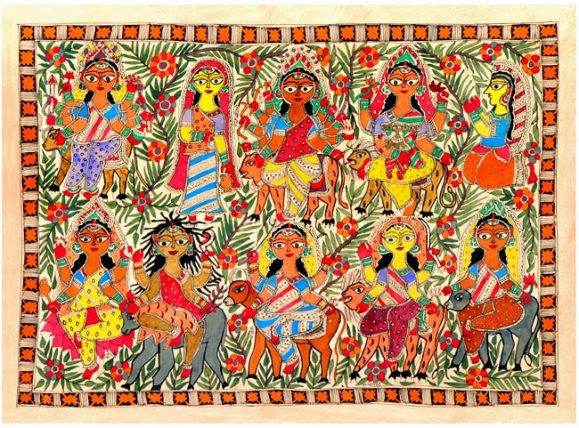 Handicrafts of India Paintings Ethnic Paintings of India Can