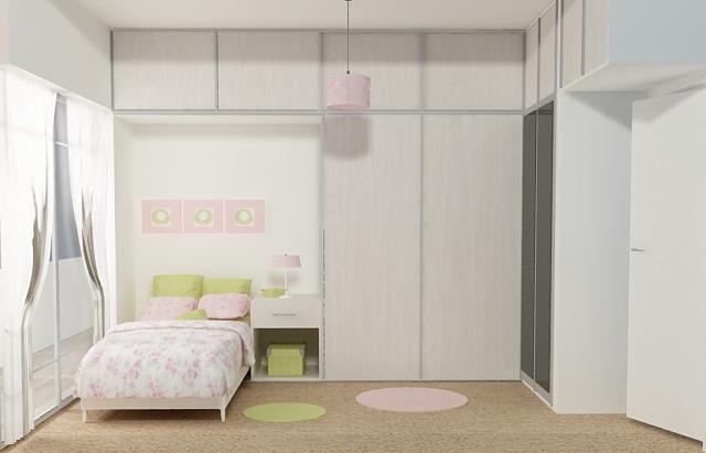 Proyectistas c y v dise o dormitorio juvenil vestidor opcion 2 - Diseno dormitorio juvenil ...