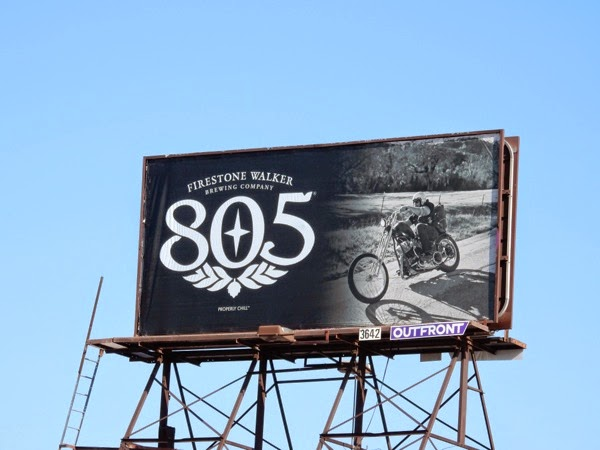 805 Firestone brewing beer biker billboard