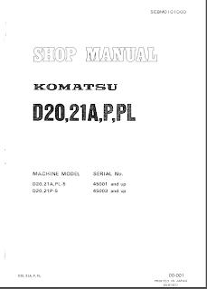 Komatsu D20,21A,PL-5 - D20,21P-5 Service manual