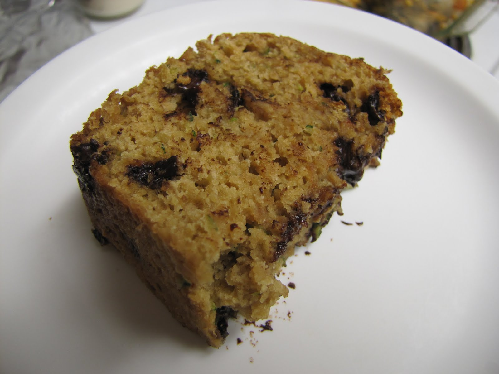 EatYourHeartOut: Low-Fat Chocolate Chip Zucchini Bread