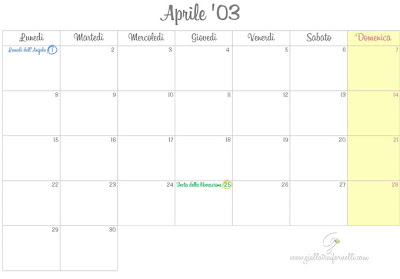MONTHLY PLANNER #3 APRILE 2013