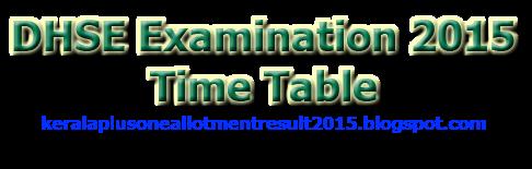 +2 examination 2015 time table , Plus two exam time table 2015