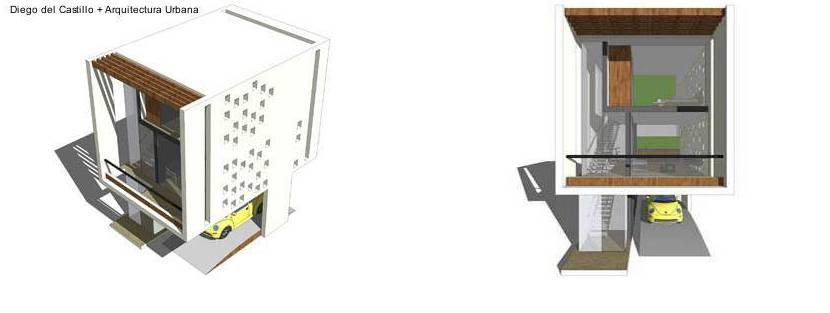 Arquitectura de casas casa m nima proyecto moderno compacto for Casa minima