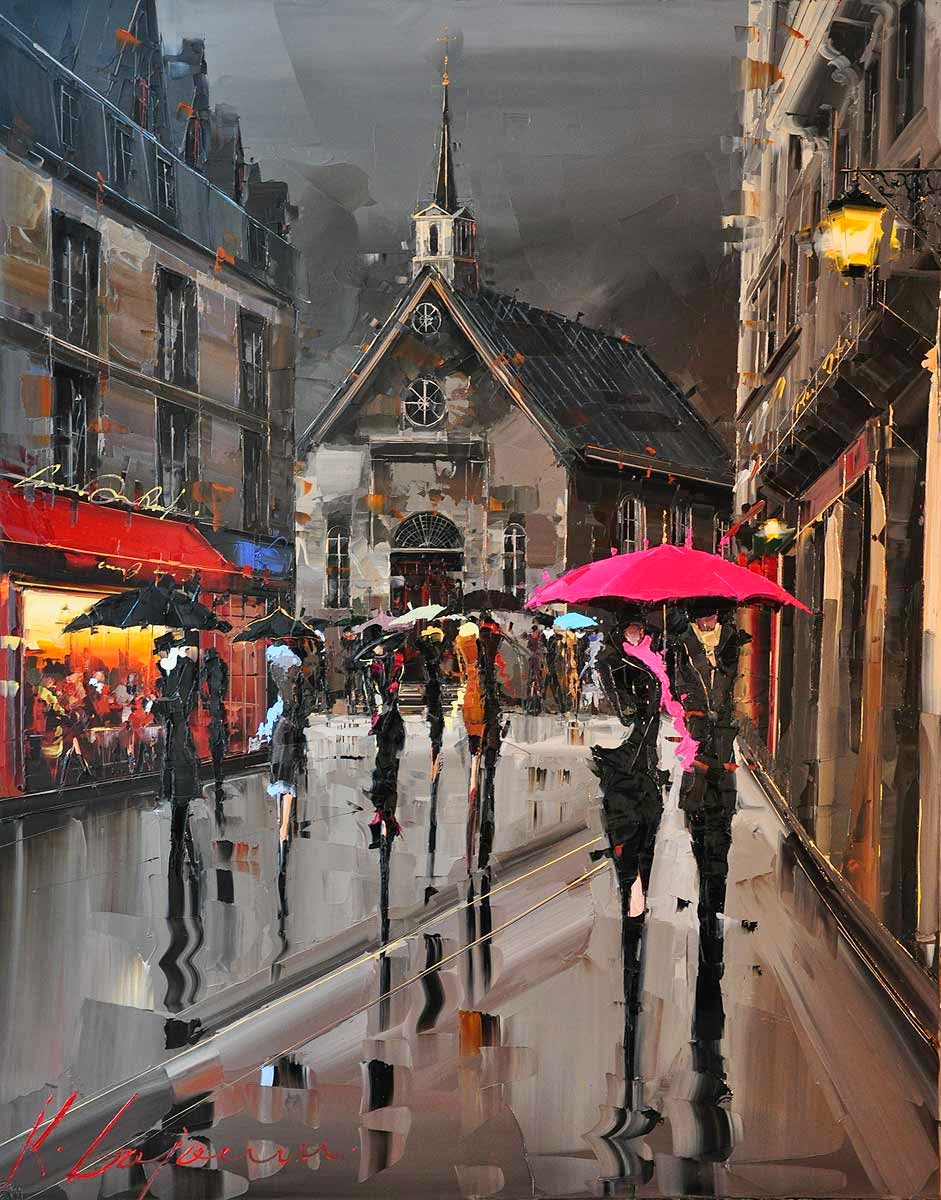 28-Québec-In-Pink-Kal-Gajoum-Paintings-of-Dream-Like Cities-of-the-World-www-designstack-co