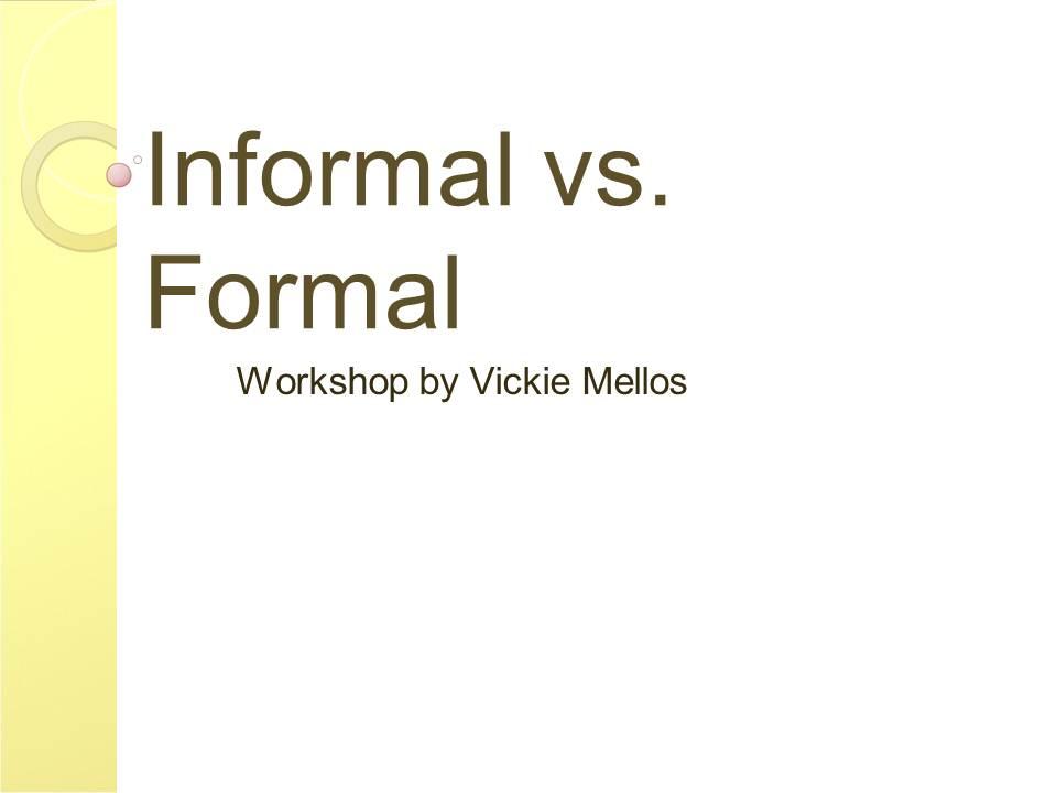 parts of formal essay
