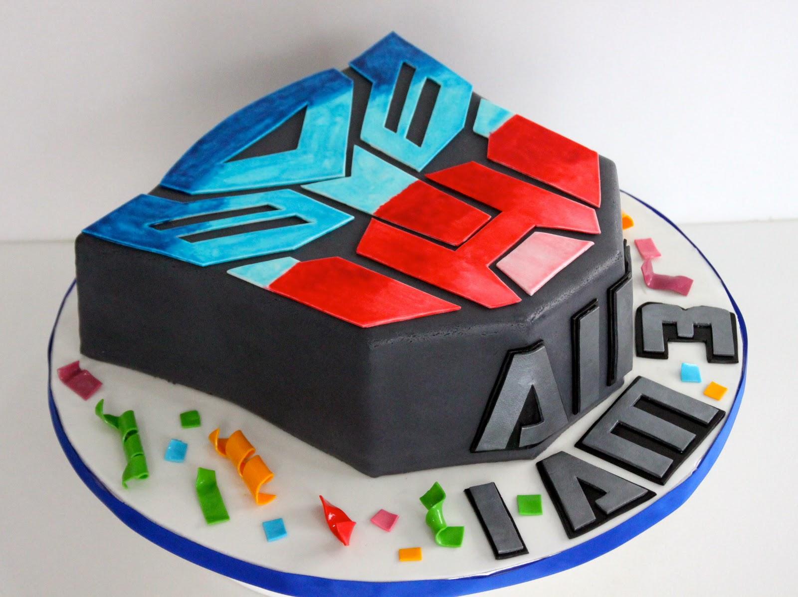 Celebrate With Cake Transformer Cake