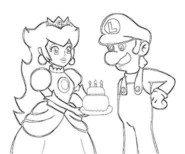 #15 Luigi Coloring Page
