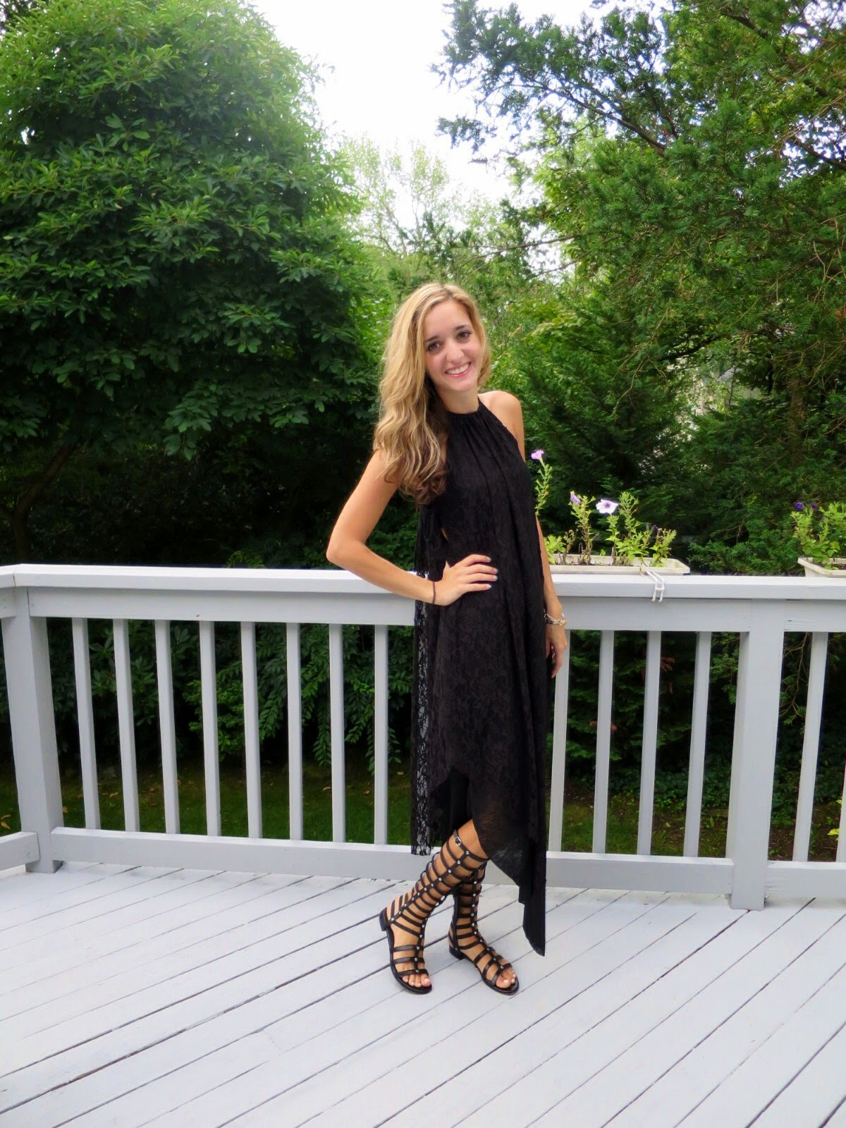 black lace free people dress