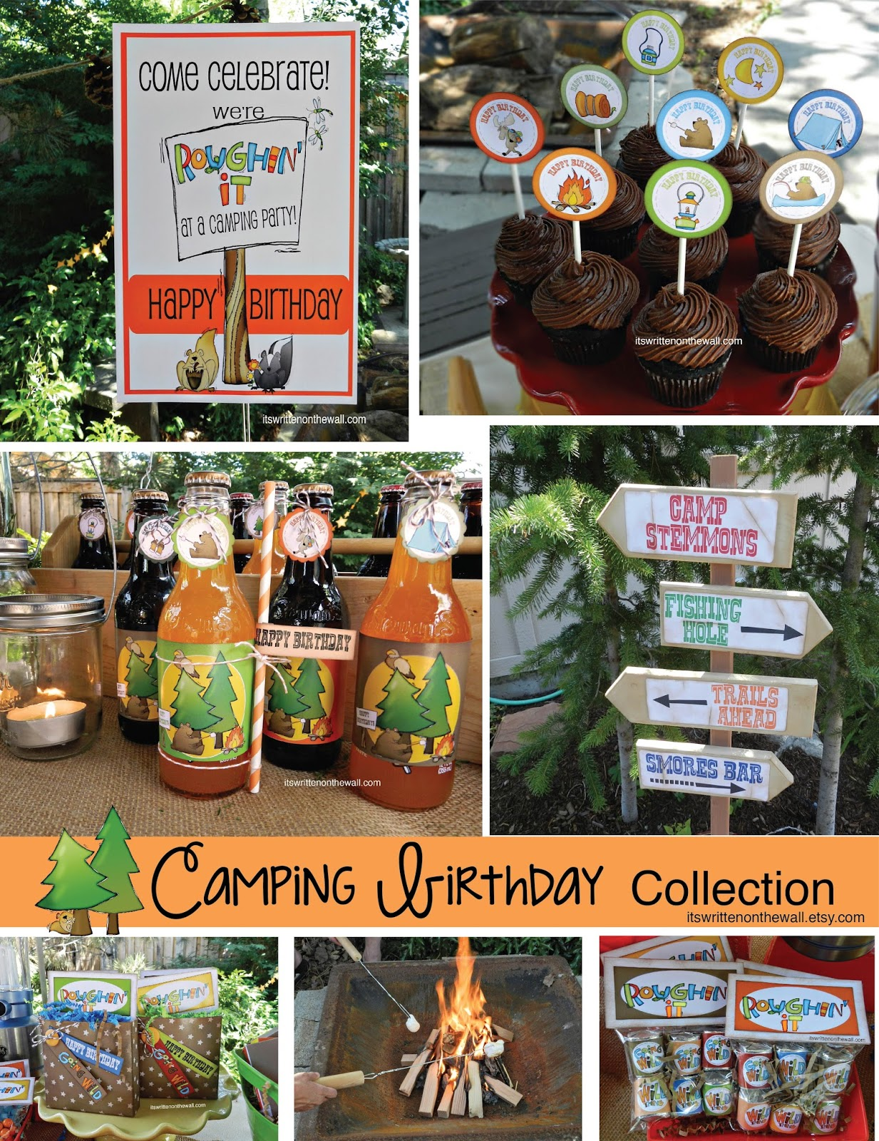 FUN FUN Camping Birthday Party Printable