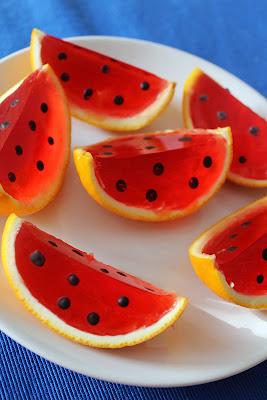 Galaretki w skórkach z pomarańczy