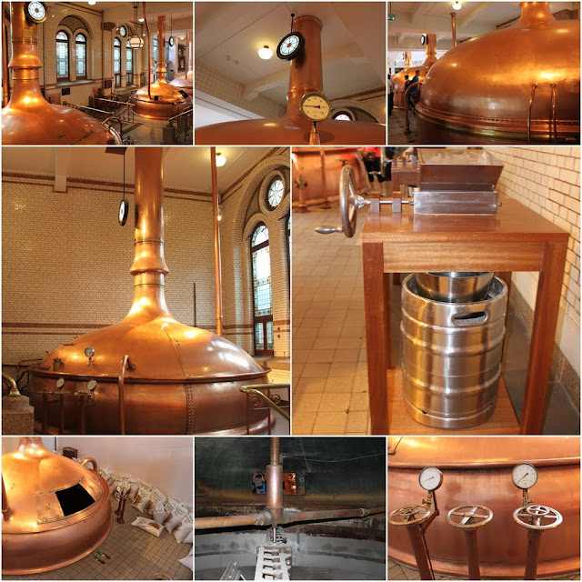 The process of brewing the beer from the best ingredients at Heineken Experience Museum in Amsterdam, Netherlands