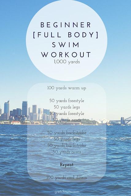 beginner full body swim workout 1000 yards