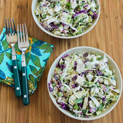 Spicy Cabbage Slaw with Chicken and Cilantro