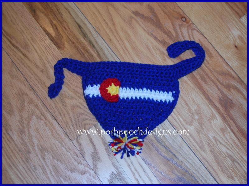 Small American Flag Crochet Pattern : Posh Pooch Designs Dog Clothes: Flag Colorado Dog Bandanna ...