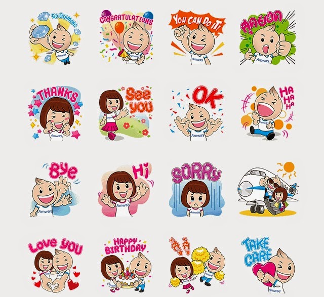 charlie and chaba line stickers