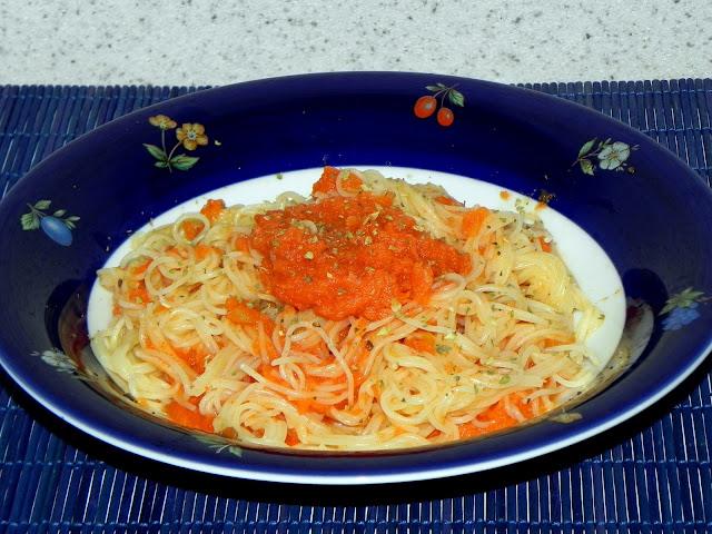 cabelinho de anjo cozinhar molho tomate cru