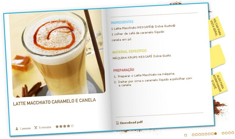 """Nescafé Dolce Gusto """"Latte Machiato Caramelo e Canela"""""""