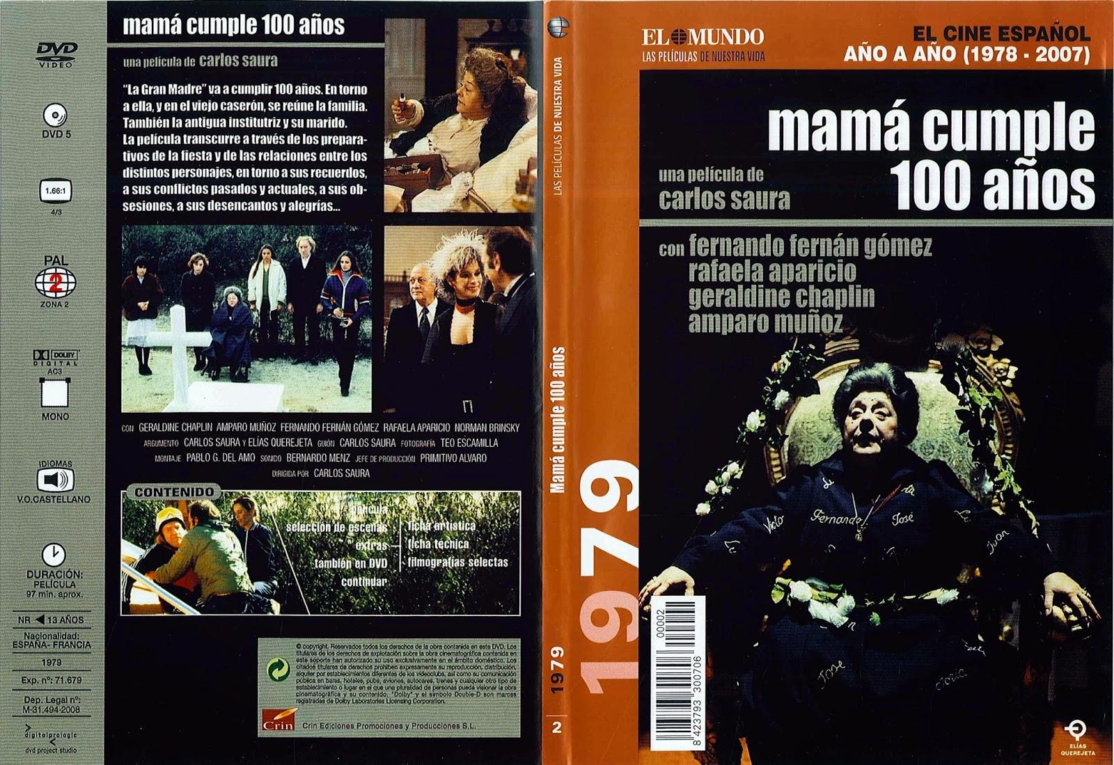 Carátula dvd: Mamá cumple 100 años (1979) - Fotografías
