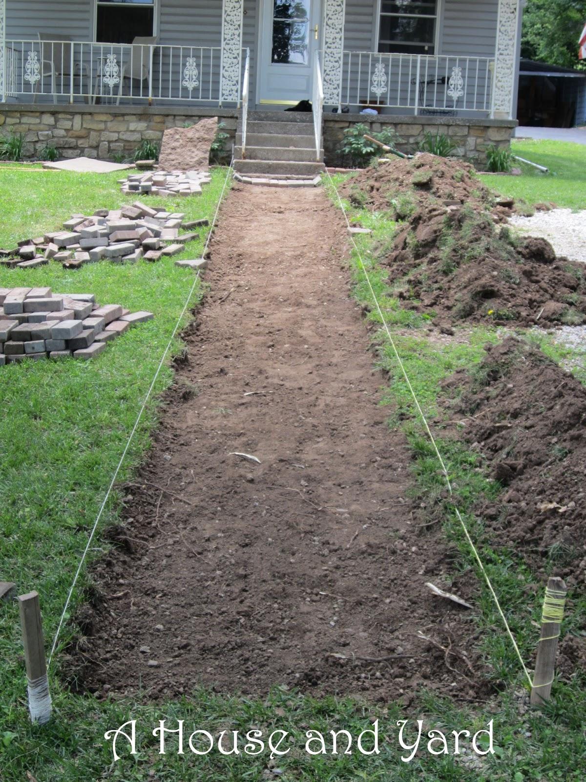how to make a brick sidewalk