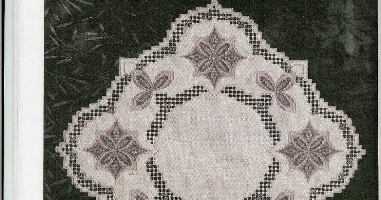 Вышивка хардангер салфетки 1