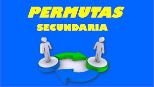PERMUTAS 2018 - SECUNDARIA