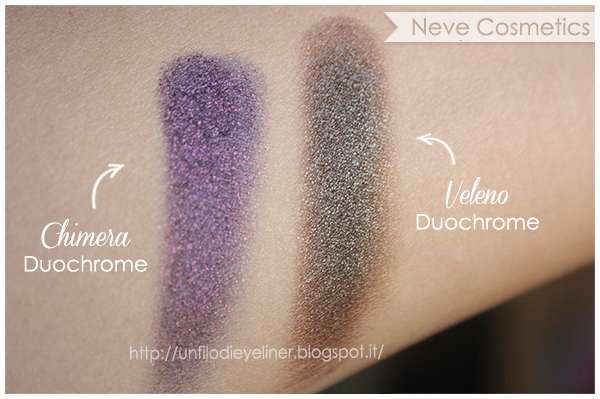 Swatch: Veleno e Chimera (Duochrome) - Neve Cosmetics