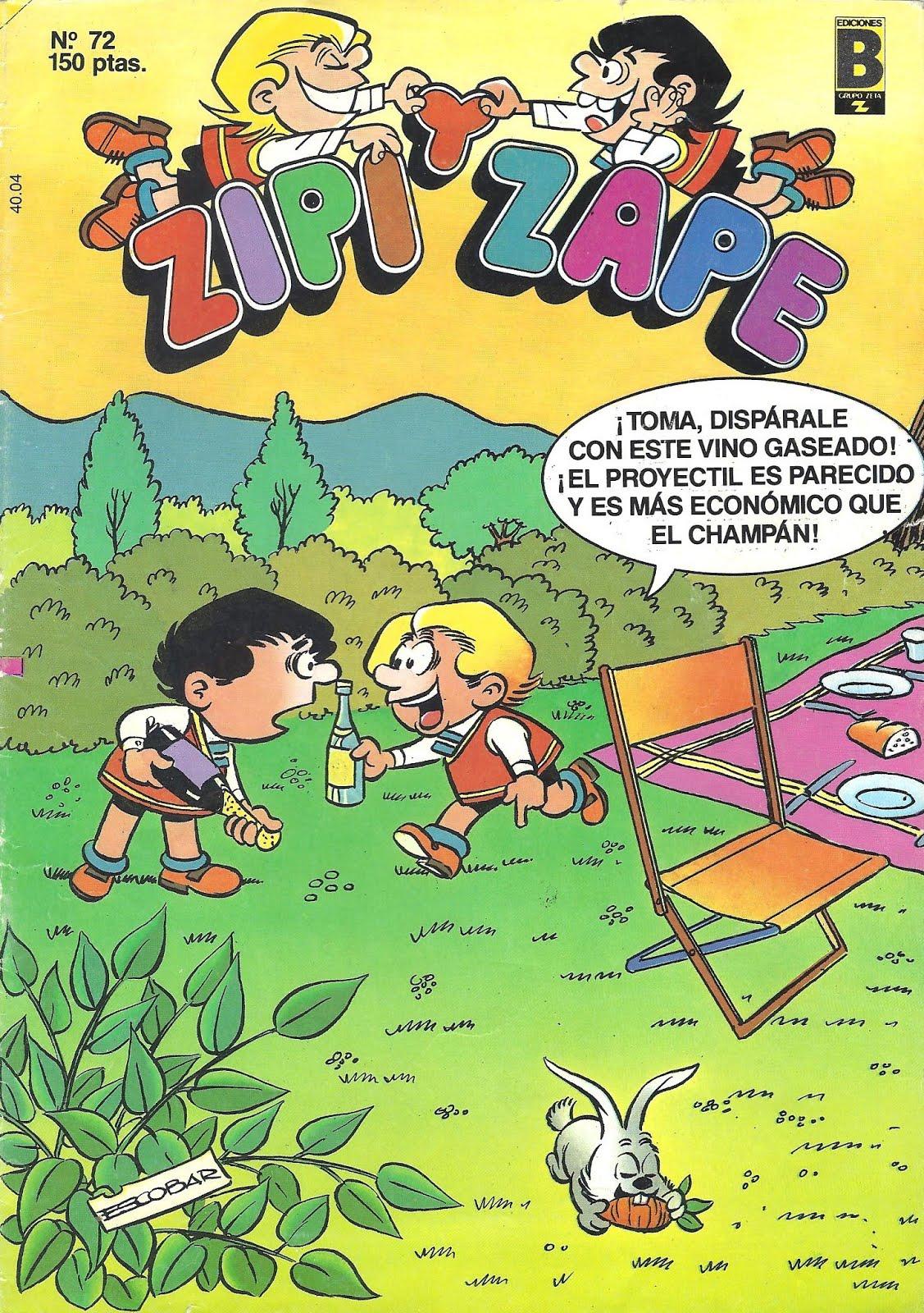 ZIPI ZAPE / ZIPI Y ZAPE Nº 72 - EDICIONES B - Escaneos inéditos de j.Rab