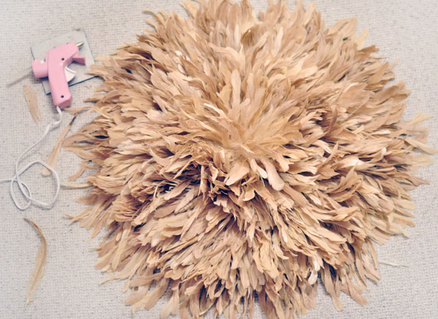 Feather Wall Art DIY African Juju Hat Tutorial