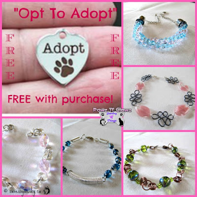 Support animal shelters by purchasing our handmade jewelry