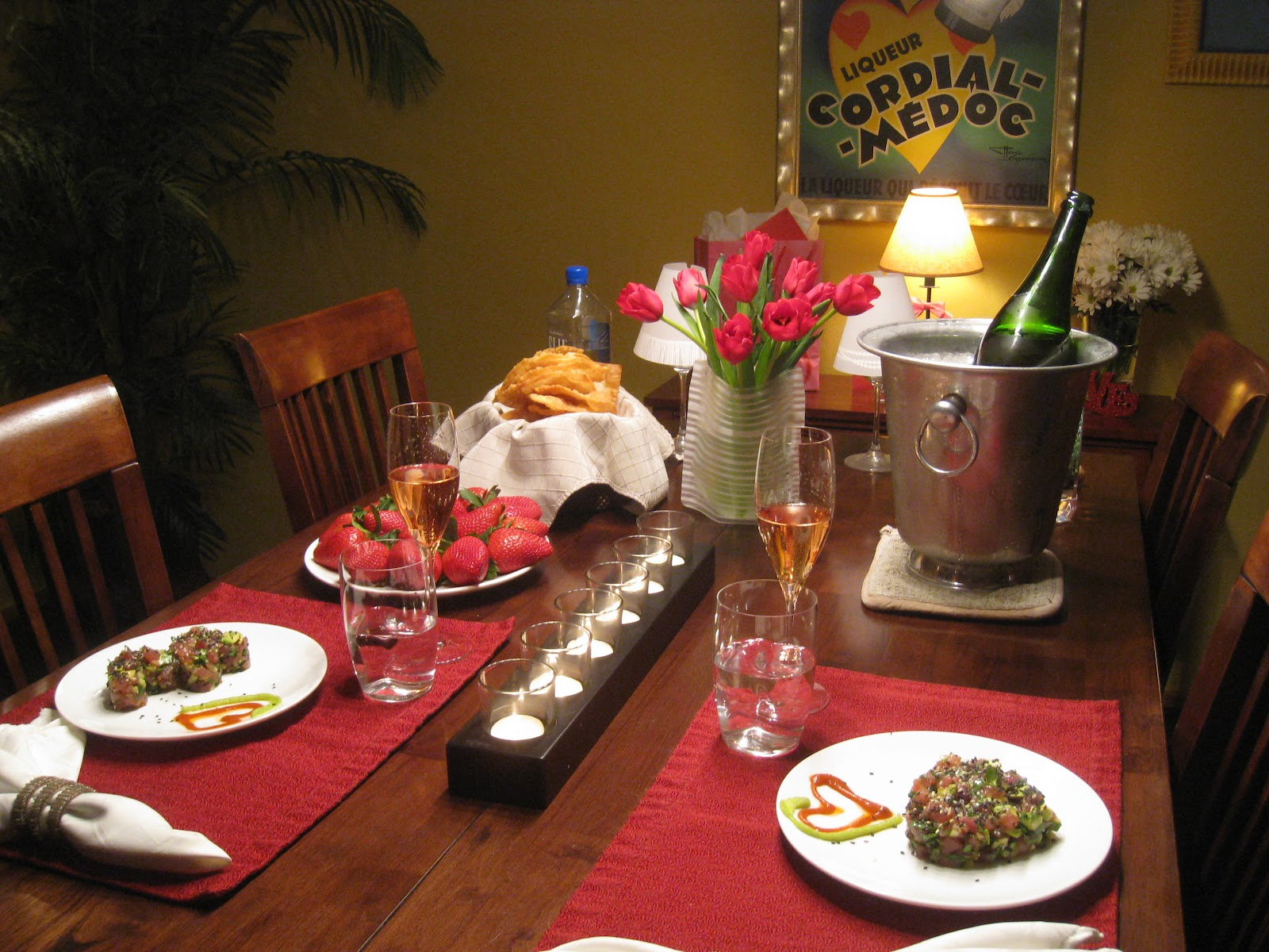Penelope The Foodie: Romantic Dinner for Two: Tuna Tartare ...