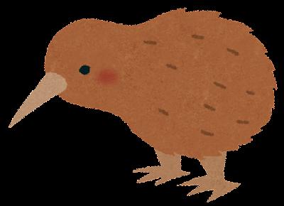 キーウィ(鳥)のイラスト