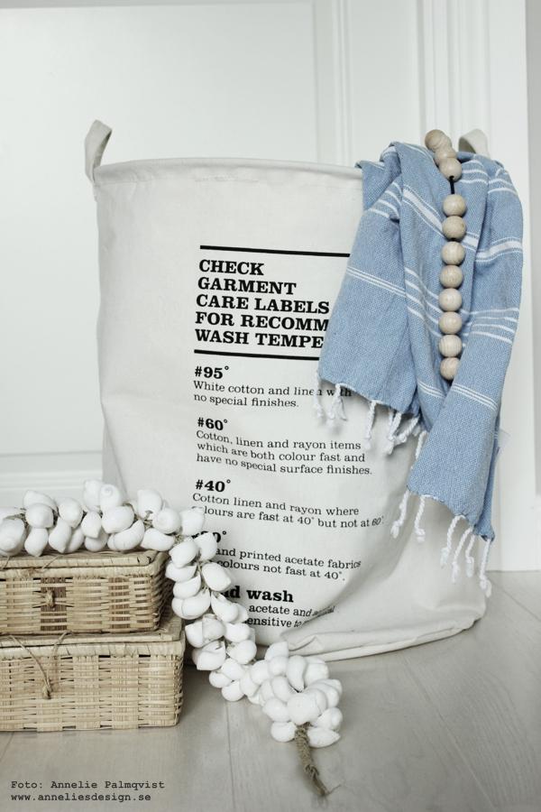 tvättkorg, tvättinstruktioner, anneliesdesign, webbutik, webbutiker, webshop, annelies design & Interior, house doctor, inredning, inredningsdetaljer, tvättstuga