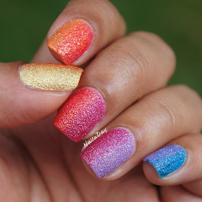 NailaDay: Zoya PixieDust Summer Rainbow gradient