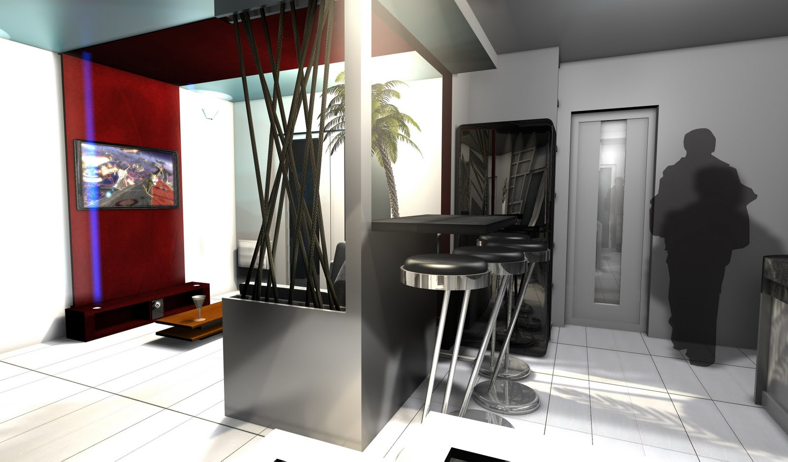 blog archi d co design entr e salon cuisine une pi ce vivre remodeler. Black Bedroom Furniture Sets. Home Design Ideas