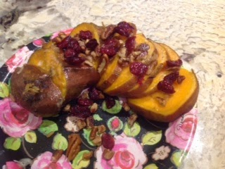 sweet potato with cranberries