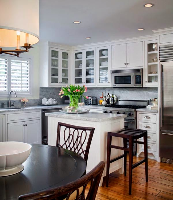 Small kitchen with microwave noellena photo 39 n ideas for Tiny kitchen remodel