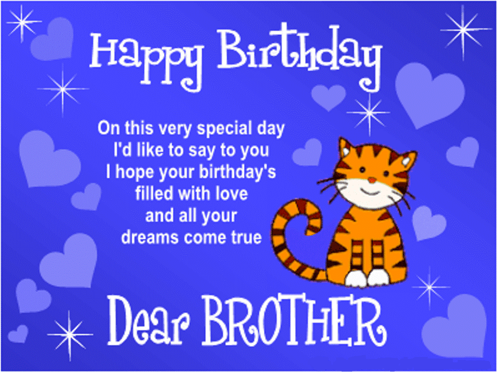 Simple Birthday Cards For Brother ~ Happy birthday brother wishes hd images pictures photos greetings