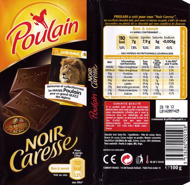 tablette de chocolat noir dégustation poulain noir caresse