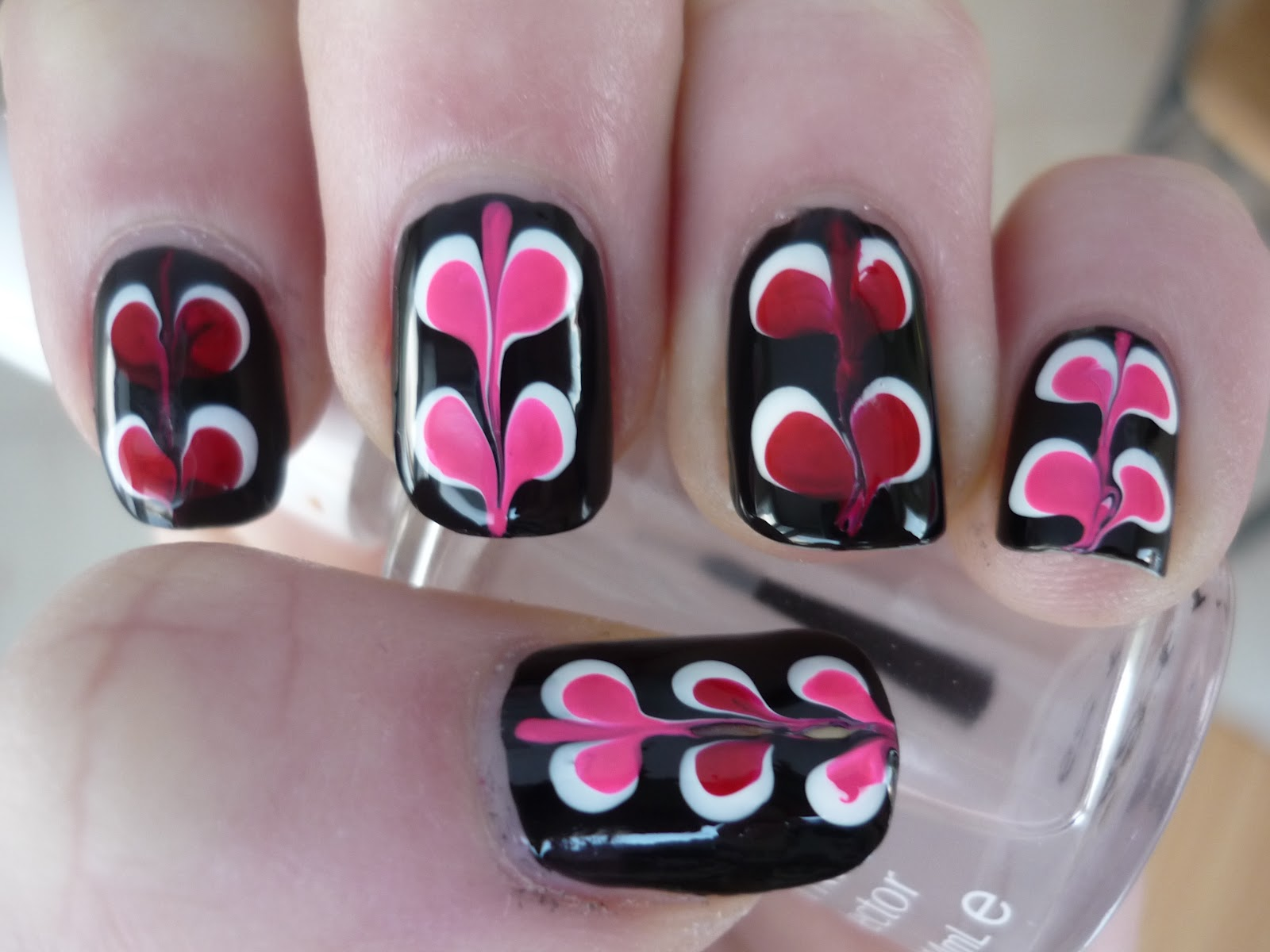 Drag Marble Hearts Nail Art Juliatmll Nail Art