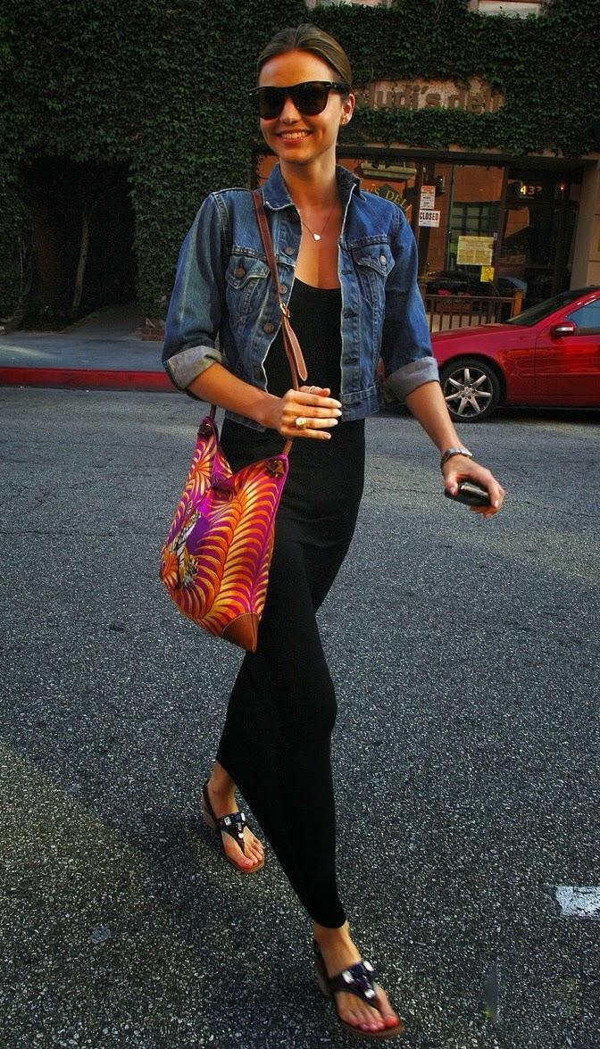 Summer black maxi dress+jeans jacket